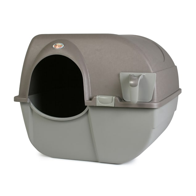 Omega Paw Roll 'n Clean Self Cleaning Litter Box for Cats, Regular - Carousel image #1