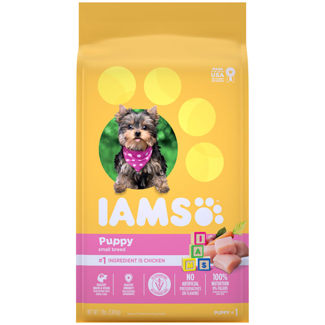 Iams ProActive Health Smart Chicken Dry Food for Small & Toy Puppies, 7 lbs. - Carousel image #1