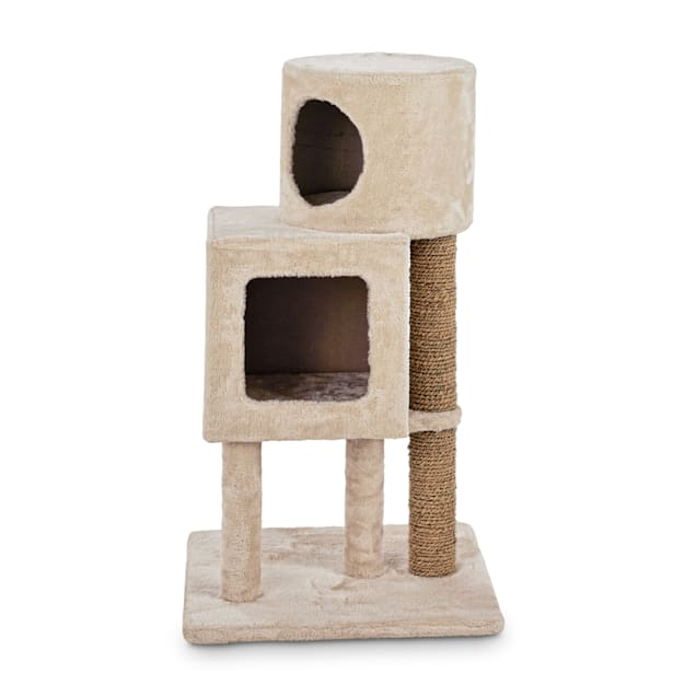 """Animaze Double Cat Condo with Scratching Post, 19"""" L x 19"""" W x 33"""" H - Carousel image #1"""