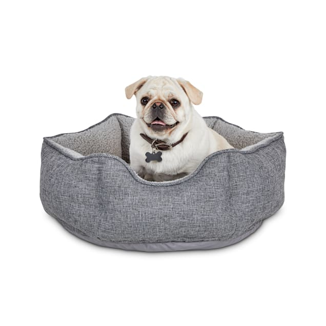 "Harmony Cozy Cottage Gray Hexagon Nester Dog Bed, 22"" L X 22"" W X 7"" H - Carousel image #1"