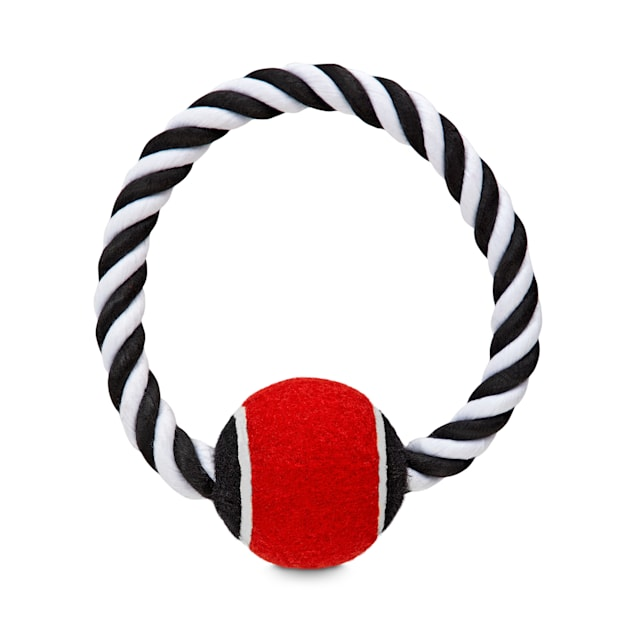 Bond & Co. Tennis Ball on a Rope Ring Dog Toy, Small - Carousel image #1