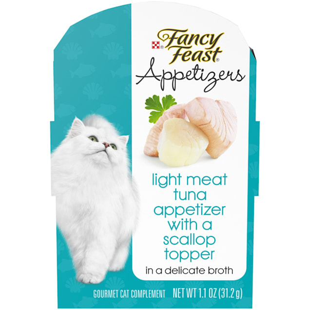 Fancy Feast Appetizers Light Meat Tuna With a Scallop Topper Wet Cat Food, 1.1 oz., Case of 10 - Carousel image #1