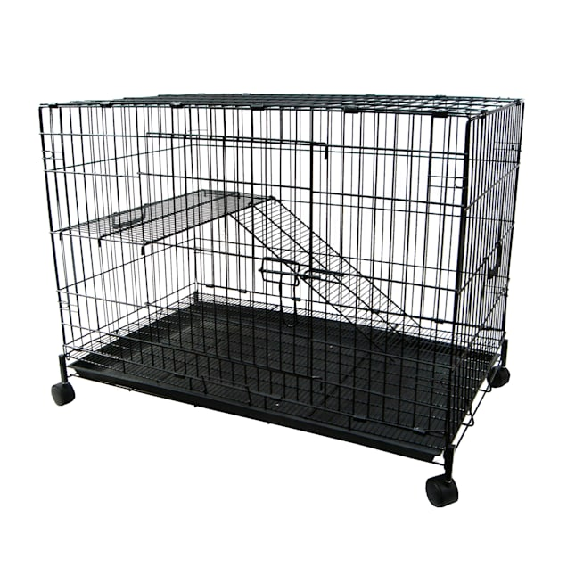 """YML 2 Level Black Small Animal Cage, 36"""" L X 23"""" W X 29"""" H - Carousel image #1"""