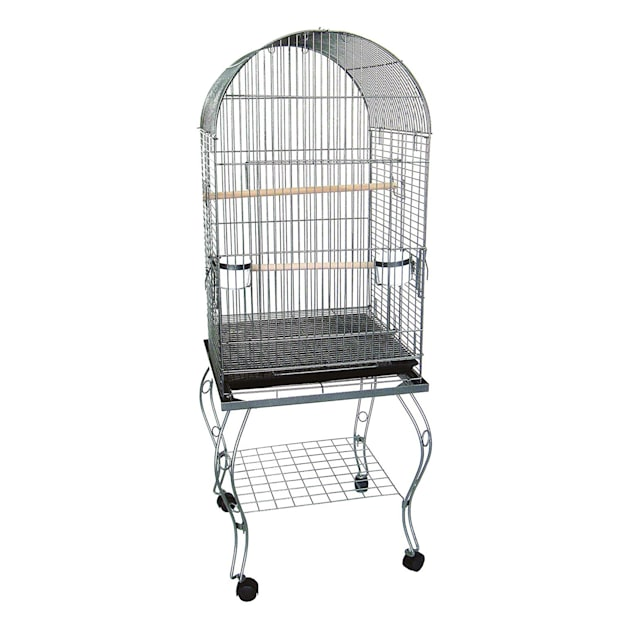 """YML Dometop Silver Parrot Cage, 20"""" L X 20"""" W X 58"""" H - Carousel image #1"""