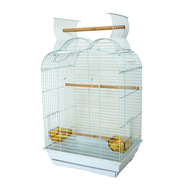 """YML 5/8"""" Bar Spacing White Small Parrot Cage, 18"""" L X 14"""" W X 28"""" H - Carousel image #1"""