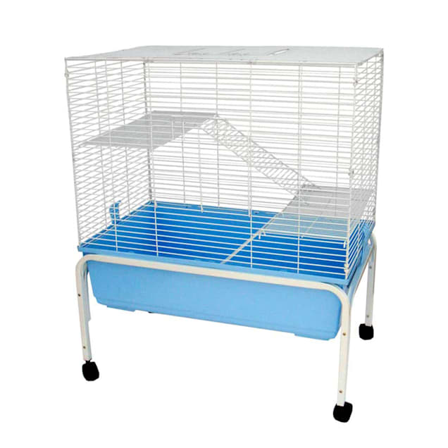 """YML 3 Level Indoor Blue Ferret Cage With Stand, 32"""" L X 20"""" W X 38"""" H - Carousel image #1"""