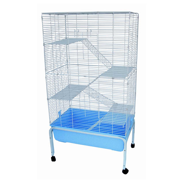 "YML 5 Level Blue Ferret Cage With Stand, 32"" L X 20"" W X 60"" H - Carousel image #1"