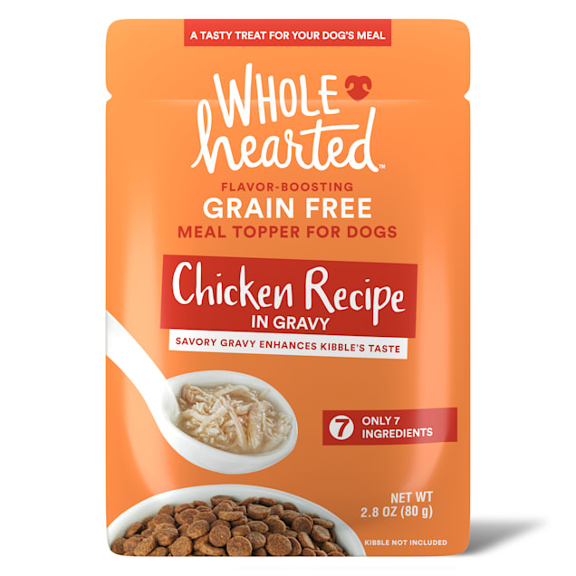 WholeHearted Chicken Recipe in Gravy Dog Meal Topper, 2.8 oz., Case of 6 - Carousel image #1