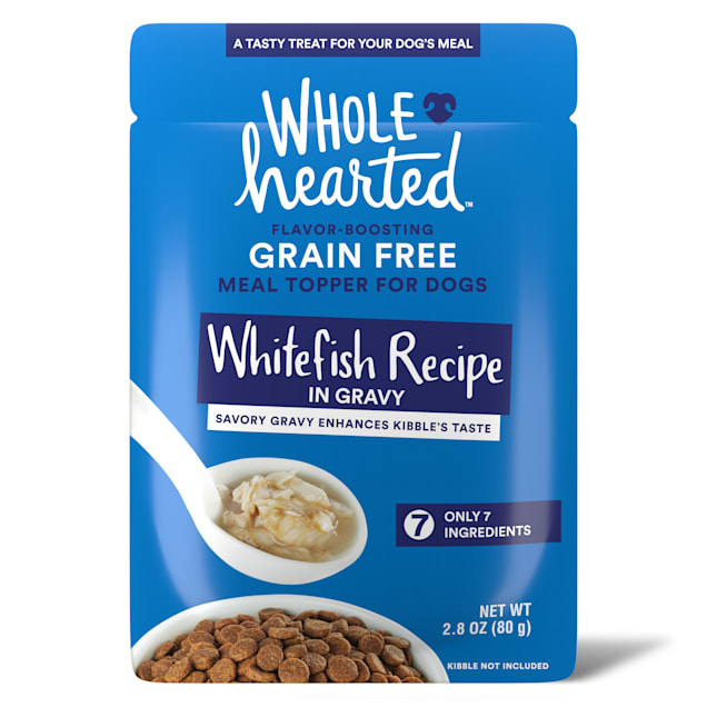 WholeHearted Whitefish Recipe in Gravy Dog Meal Topper, 2.8 oz., Case of 6 - Carousel image #1