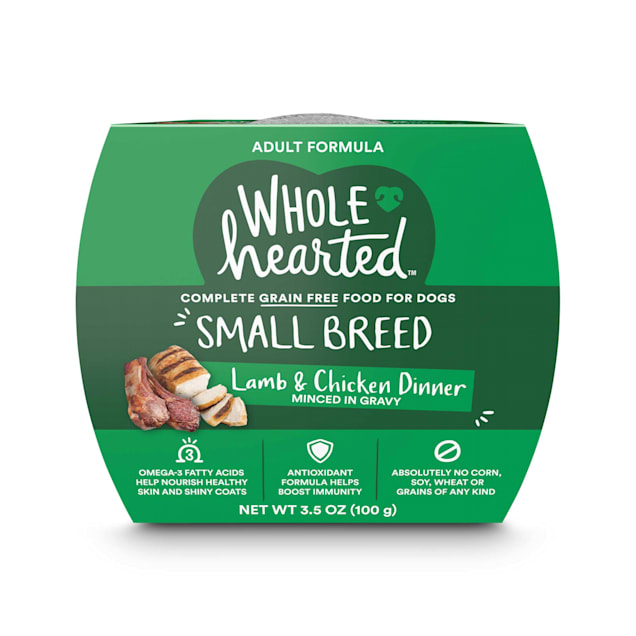 WholeHearted Grain Free Small Breed Lamb and Chicken Dinner Adult Wet Dog Food, 3.5 oz., Case of 8 - Carousel image #1