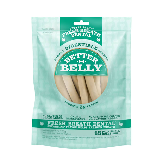 Better Belly Fresh Breath Small Roll Chews for Dogs, 9.5 oz., Count of 18 - Carousel image #1
