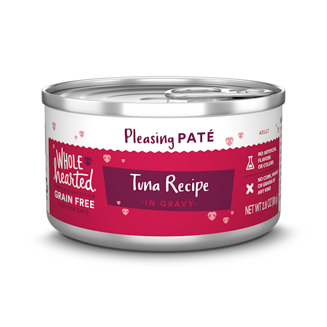 WholeHearted Grain Free Tuna Recipe Pate Adult Wet Cat Food, 2.8 oz., Case of 12 - Carousel image #1