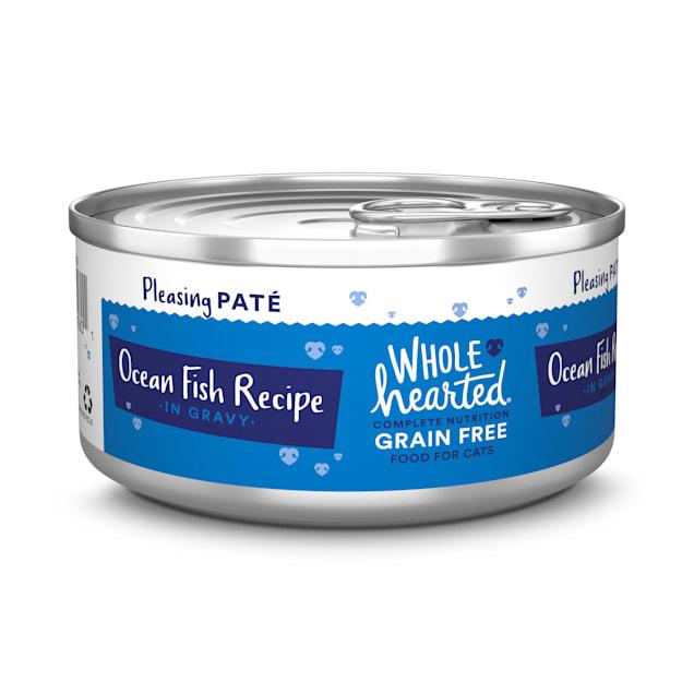 WholeHearted Grain Free Ocean Fish Recipe Pate Adult Wet Cat Food, 5.5 oz., Case of 12 - Carousel image #1