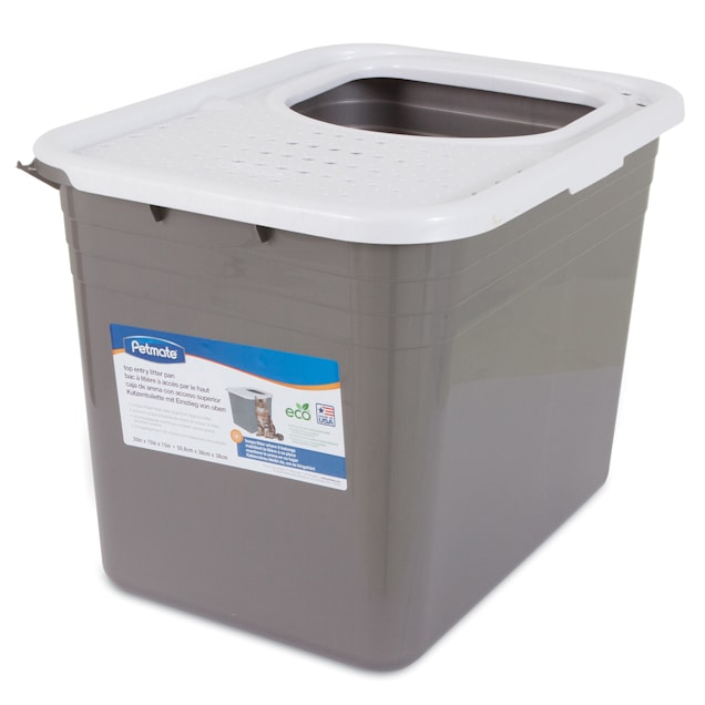 """Petmate Top Entry Litter Pan for Cats, 20.3"""" L X 15.1"""" W X 15.2"""" H - Carousel image #1"""