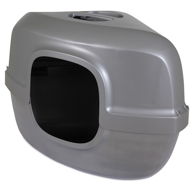 """Petmate Hooded Corner Litter Pan for Cats, 26"""" L X 19"""" W X 19.4"""" H - Carousel image #1"""