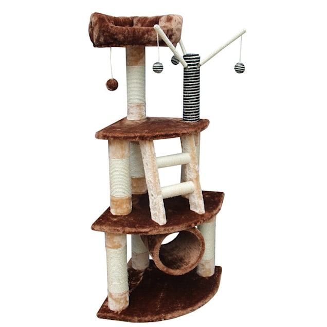 "Kitty Mansions Athens Cat Tree, 53"" H - Carousel image #1"