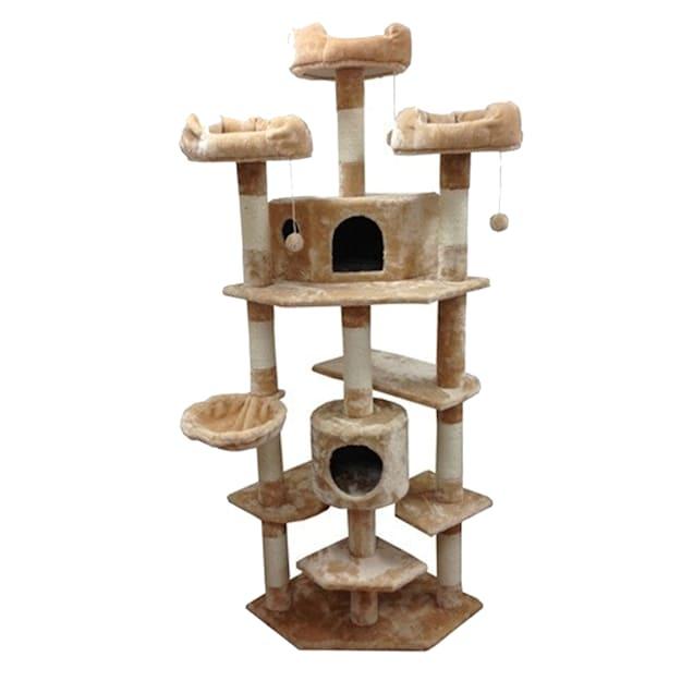 "Kitty Mansions Denver Cat Tree, 73"" H - Carousel image #1"