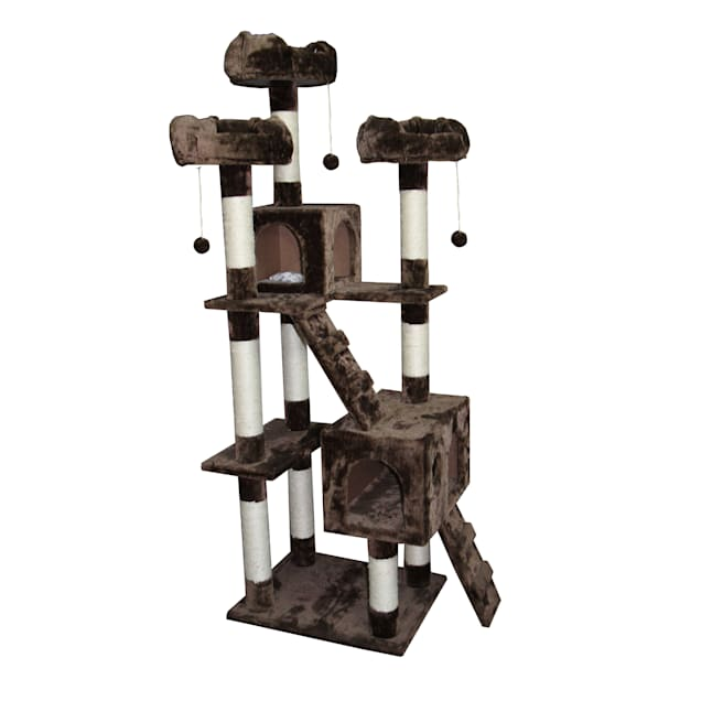"Kitty Mansions Bel Air Mocha Cat Tree, 73"" H - Carousel image #1"