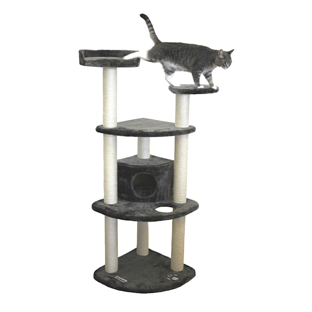 "Kitty Mansions Toronto Gray Cat Tree, 60"" H - Carousel image #1"