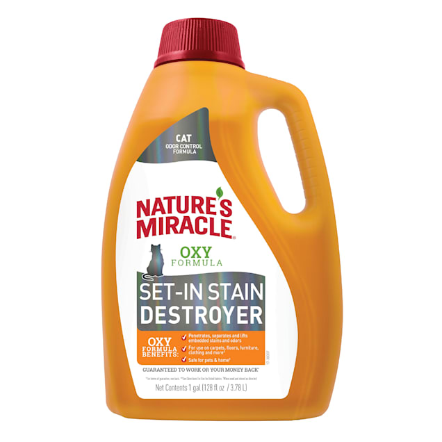 Nature's Miracle Just For Cats Set-In Stain Destroyer Oxy Formula With Orange Scent, 1 Gallon - Carousel image #1