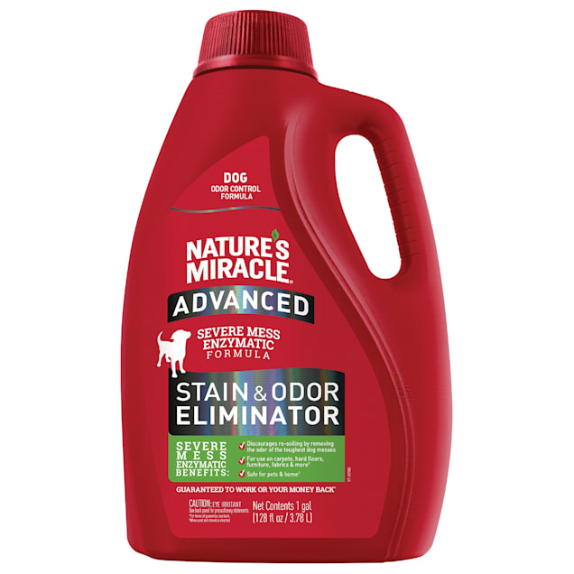 Nature's Miracle Advanced Stain & Odor Removers For Dog, 1 Gallon - Carousel image #1