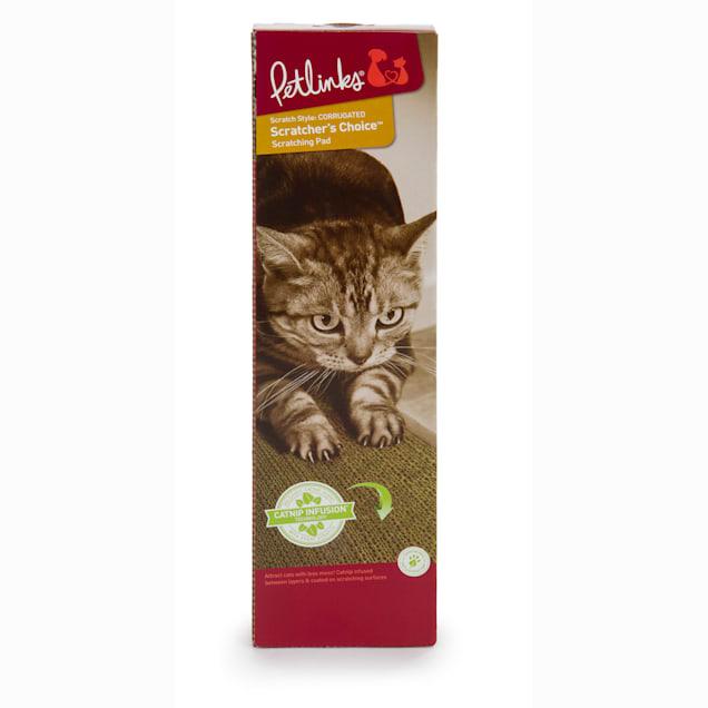 Petlinks System Scratcher's Choice Corrugate Cat Scratcher with Infused Catnip, Medium - Carousel image #1