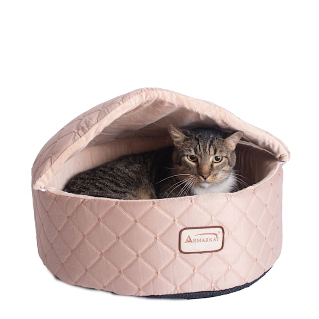 """Armarkat Canopy Cat Bed in Apricot, 21"""" L X 20"""" W - Carousel image #1"""