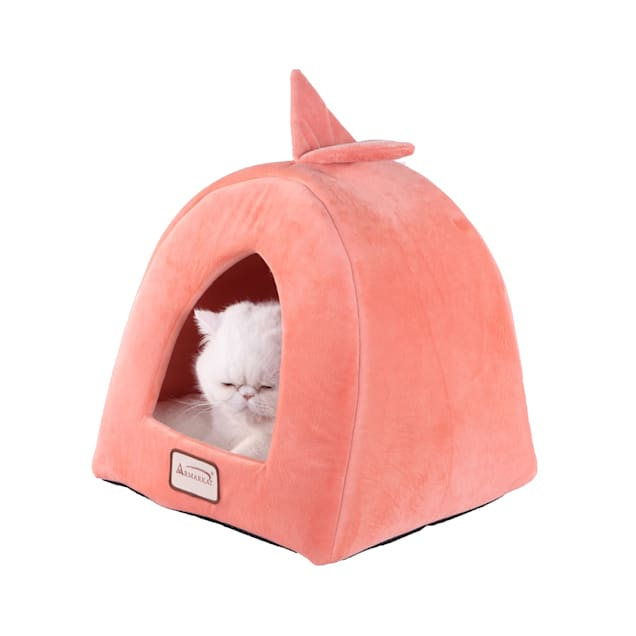 "Armarkat Condo Cat Bed in Orange and Ivory, 14"" L X 14"" W - Carousel image #1"