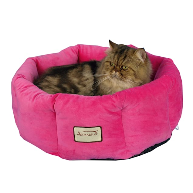 """Armarkat Cozy Cat Bed in Pink, 15"""" L X 15"""" W - Carousel image #1"""