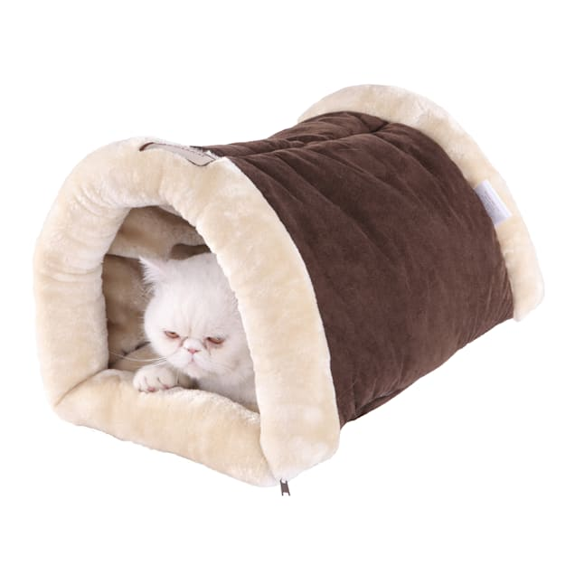 """Armarkat Hideaway Multi-use Cat Bed in Brown and Beige, 22"""" L X 14"""" W - Carousel image #1"""
