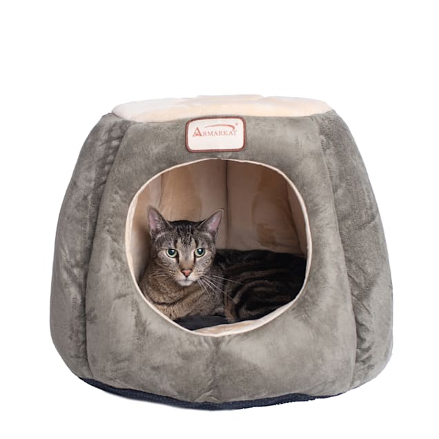 """Armarkat House Cat Bed in Laurel and Beige, 20"""" L X 20"""" W - Carousel image #1"""