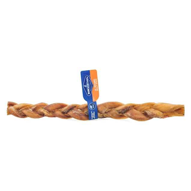 Barkworthies Braided Bully Sticks for Dogs, 0.2 LBS - Carousel image #1