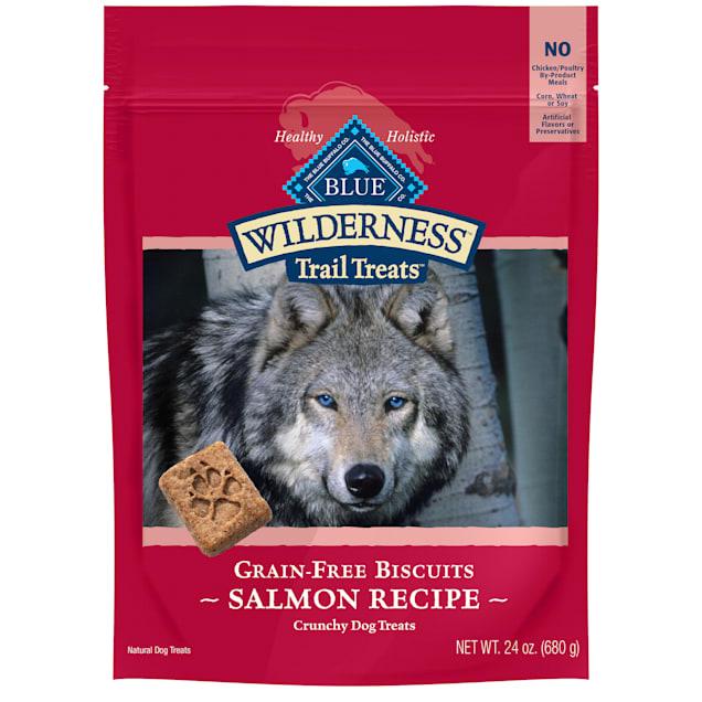 Blue Buffalo Wilderness Biscuit Salmon Dog Treat, 24 oz. - Carousel image #1