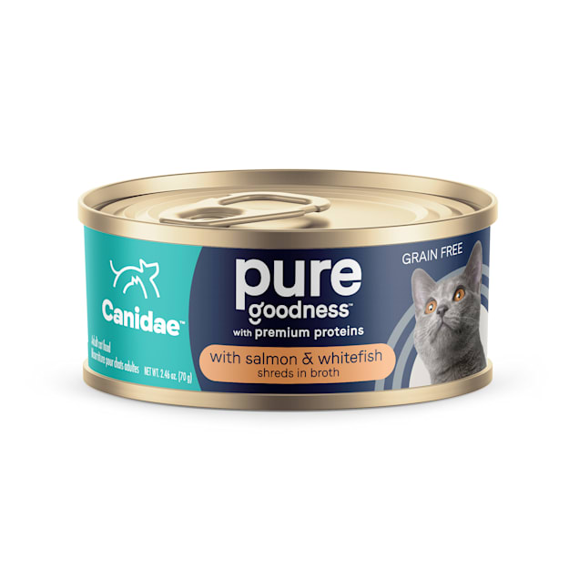 Canidae Adore Grain Free Salmon and Whitefish in Broth Wet Cat Food, 2.46 oz., Case of 24 - Carousel image #1