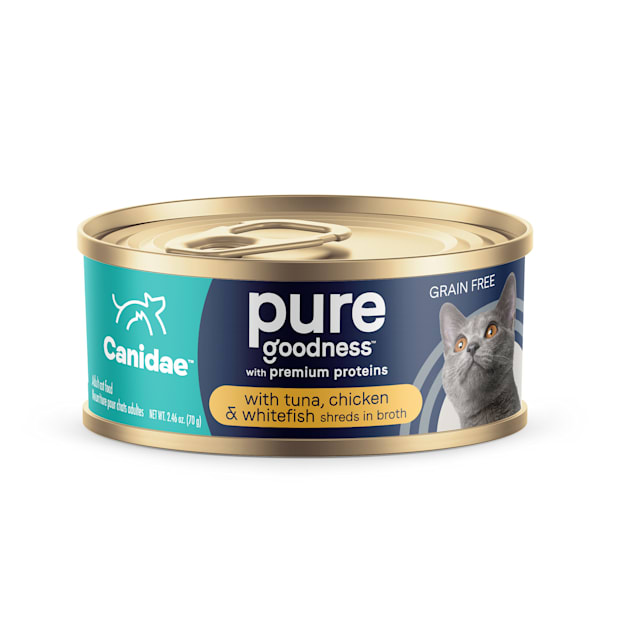 Canidae Adore Grain Free Tuna, Chicken and Whitefish in Broth Wet Cat Food, 2.46 oz., Case of 24 - Carousel image #1