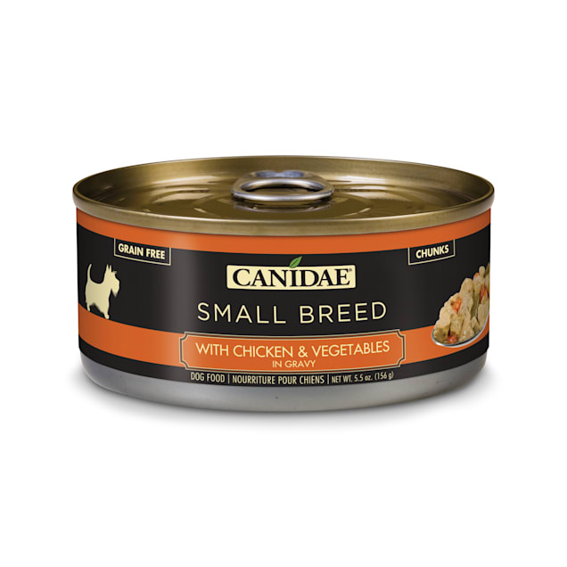 CANIDAE Grain Free PURE Petite Small Breed With Chicken And Vegetables In Gravy Wet Dog Food, 5.5 oz., Case of 24 - Carousel image #1