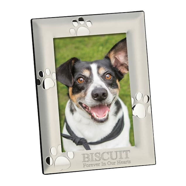 Custom Personalization Solutions Personalized Vertical Silver Dog Memorial Frame - Carousel image #1