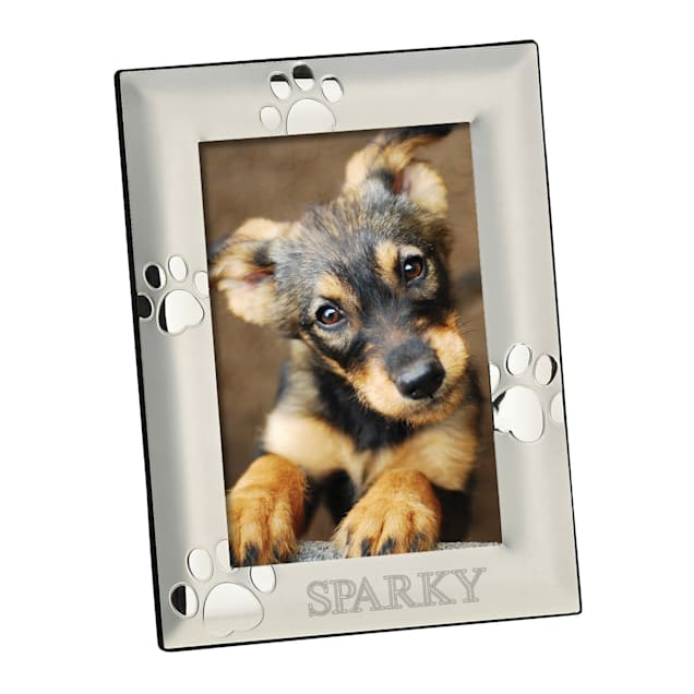 Custom Personalization Solutions Personalized Vertical Silver Dog Frame - Carousel image #1