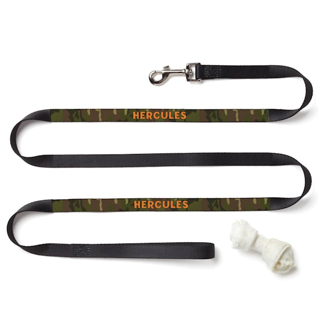 Custom Personalization Solutions Personalized Green Camouflage Dog Leash - Carousel image #1