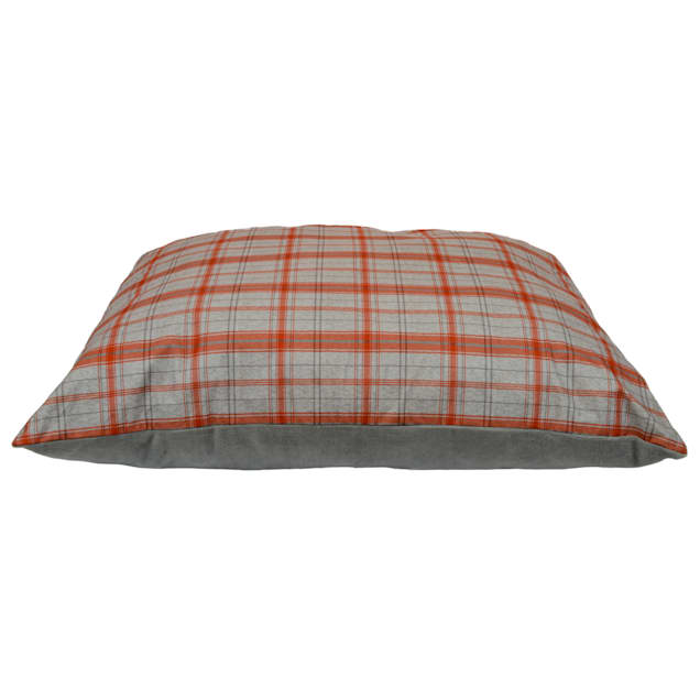"""Dallas Manufacturing Knife Plaid Red Piping Dog Bed, 52"""" L X 42"""" W - Carousel image #1"""