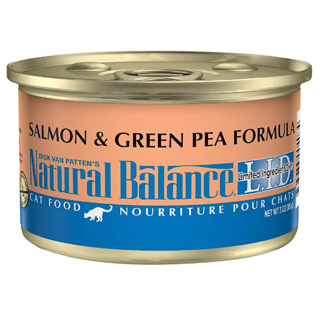 Natural Balance L.I.D. Limited Ingredient Diets Salmon & Green Pea Formula Wet Cat Food, 3 oz., Case of 24 - Carousel image #1