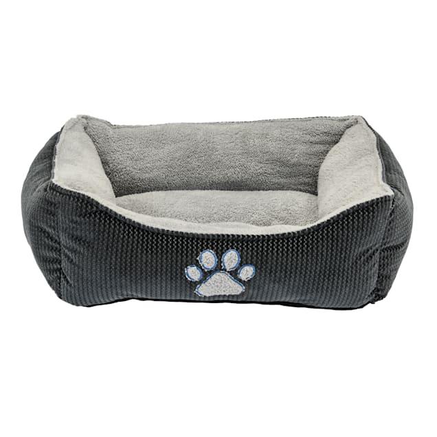 "Dallas Manufacturing ZigZag Gray Box Dog Bed, 25"" L X 21"" W - Carousel image #1"