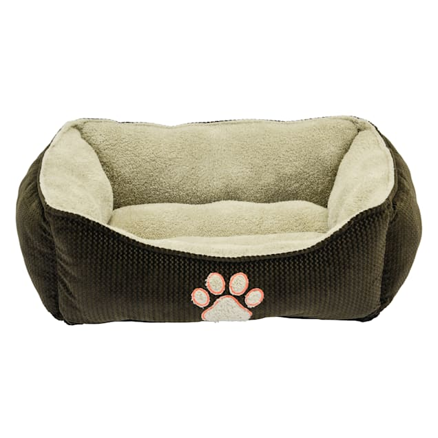"""Dallas Manufacturing ZigZag Box Brown Piping Dog Bed, 25"""" L X 21"""" W - Carousel image #1"""