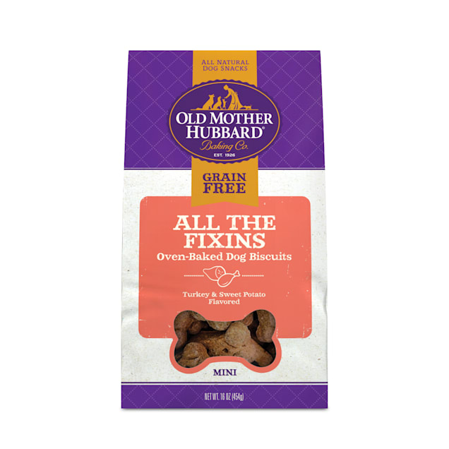Old Mother Hubbard Mini All the Fixins Grain Free Dog Treats, 16 oz. - Carousel image #1