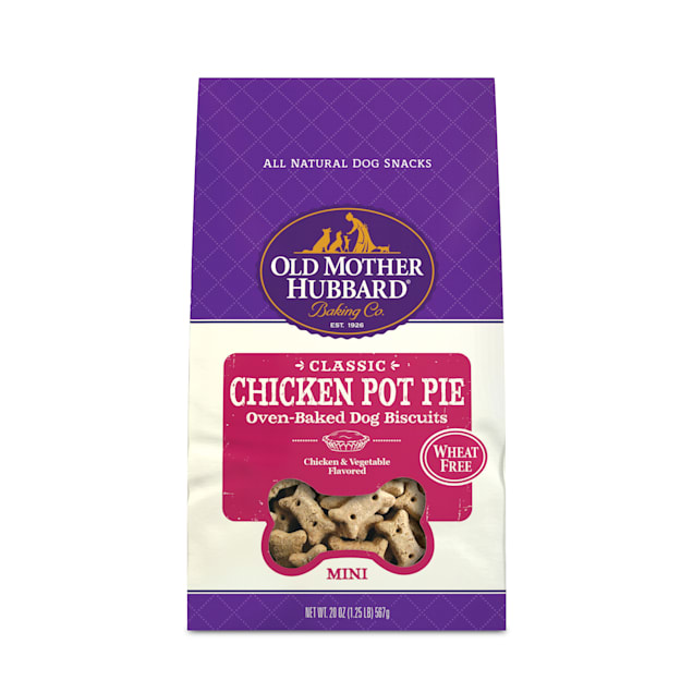 Old Mother Hubbard Mini Classic Chicken Pot Pie Biscuits Baked Dog Treats, 20 oz. - Carousel image #1