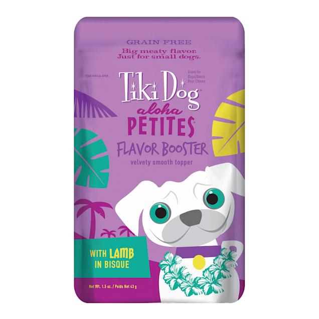 Tiki Dog Aloha Petites Lamb in Bisque Flavor Booster Wet Dog Food, 1.5 oz., Case of 12 - Carousel image #1