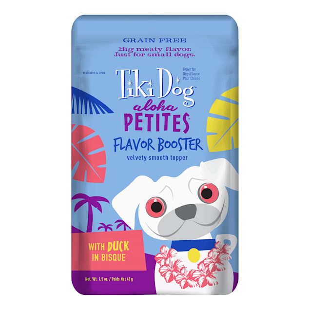 Tiki Dog Aloha Petites Duck in Bisque Flavor Booster Wet Dog Food, 1.5 oz., Case of 12 - Carousel image #1
