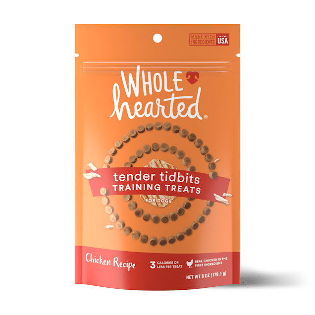 WholeHearted Grain-Free Tender Tidbits Chicken Recipe Dog Training Treats, 6 oz. - Carousel image #1