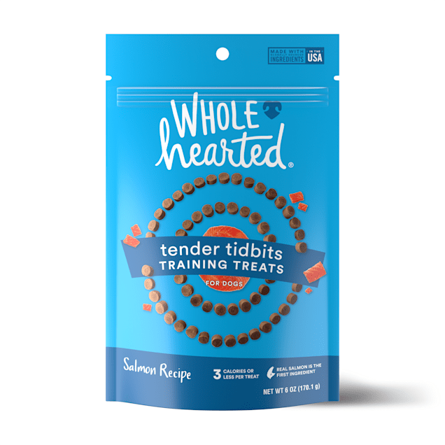 WholeHearted Grain-Free Tender Tidbits Salmon Recipe Dog Training Treats, 6 oz. - Carousel image #1