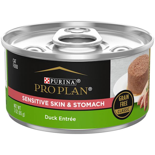 Purina Pro Plan Focus Grain Free Sensitive Skin & Stomach Duck Wet Cat Food, 3 oz., Case of 24 - Carousel image #1